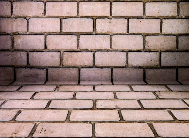 Padrão de textura vintage de fundo de parede de tijolo