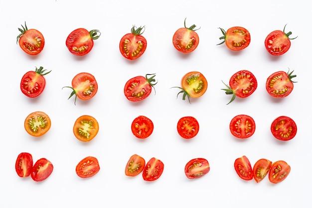Padrão de tomate cereja fresco