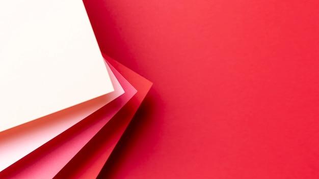 Padrão de tons vermelho com espaço de cópia