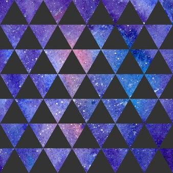 Padrão de triângulos na textura do espaço, fundo abstrato. ilustração geométrica simples
