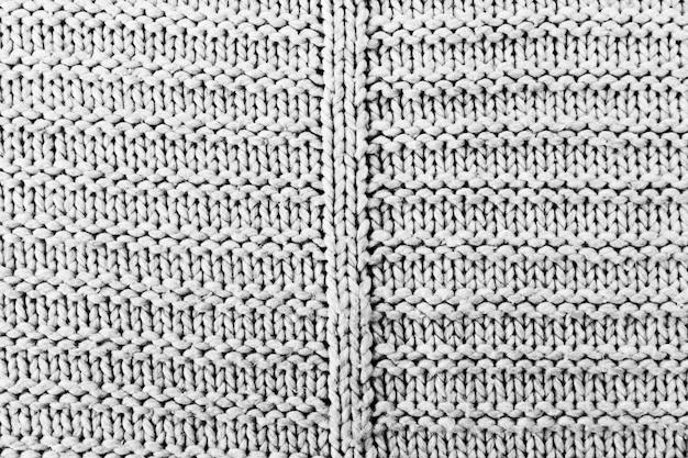 Padrão de tricô em tecido