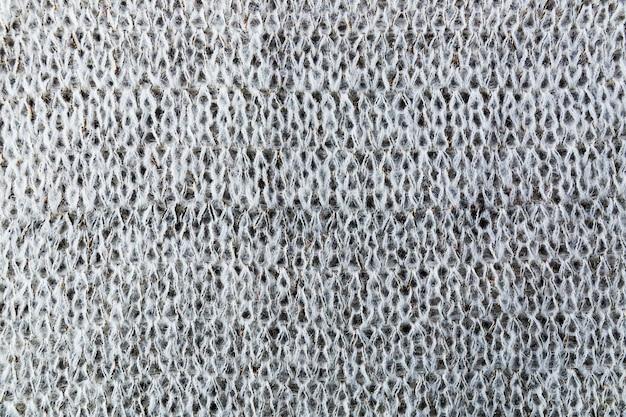 Padrão de tricô em têxtil
