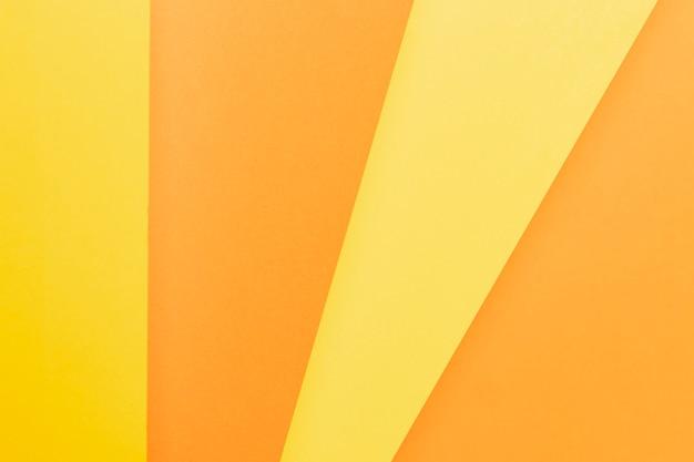 Padrão de vista superior com tons de laranja