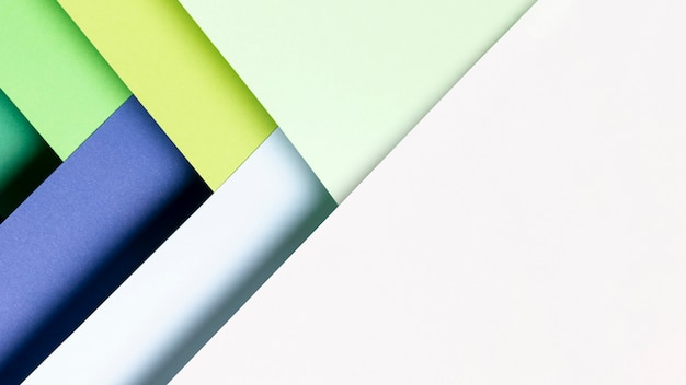 Padrão de vista superior feito de tons de cores frescas