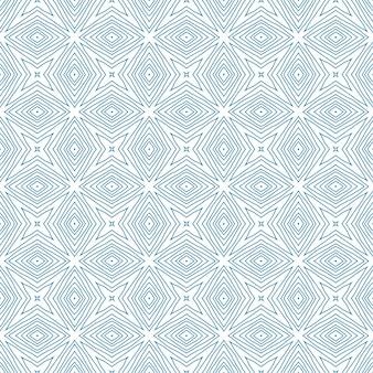 Padrão desenhado de mão arabesco. fundo azul do caleidoscópio simétrico. impressão impressionante pronta para têxteis, tecido para trajes de banho, papel de parede, embrulho. design de mão desenhada oriental arabesco.