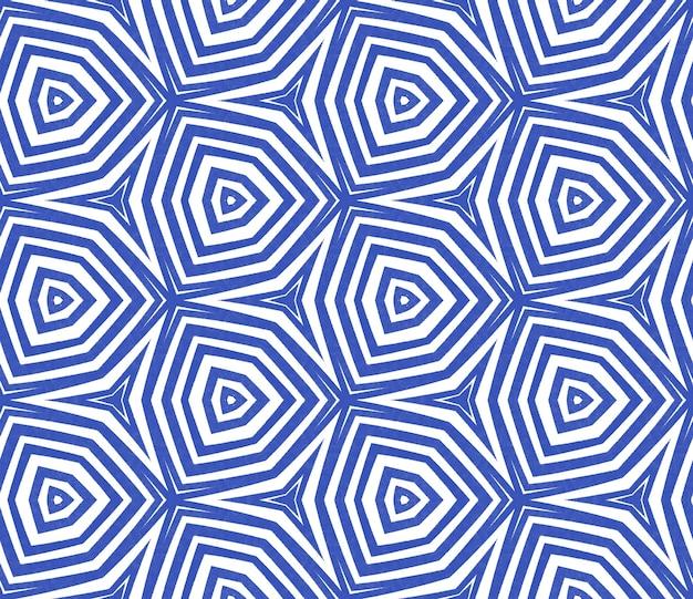 Padrão desenhado de mão arabesco. fundo de caleidoscópio simétrico índigo. estampa admirável pronta para têxteis, tecido de biquíni, papel de parede, embrulho design de mão desenhada oriental arabesco.