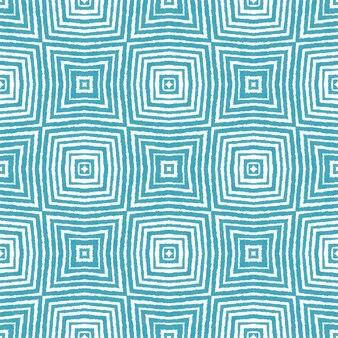 Padrão desenhado de mão arabesco. fundo de caleidoscópio simétrico turquesa. design de mão desenhada oriental arabesco. pronto para têxteis impressão real, tecido de biquíni, papel de parede, embrulho.