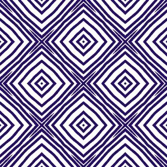 Padrão desenhado de mão listrado. fundo roxo caleidoscópio simétrico. têxtil pronto com impressão graciosa, tecido de biquíni, papel de parede, embrulho. repetindo a telha desenhada à mão listrada.