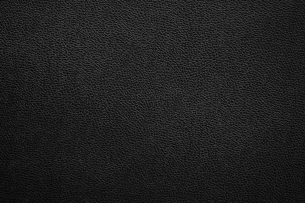 Padrão e textura de couro preto