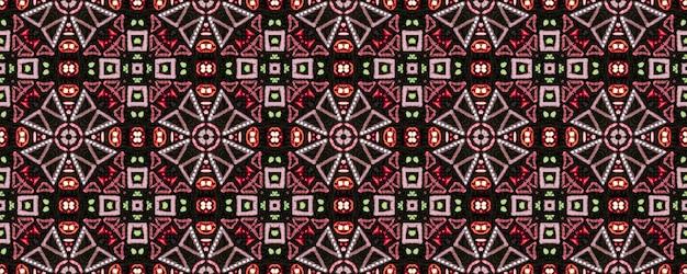 Padrão étnico brilhante. arte decorativa. padrão sem emenda em ziguezague vermelho verde marrom