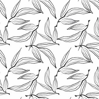 Padrão floral preto
