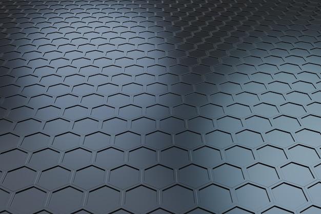 Padrão futurista de hexágono de onda