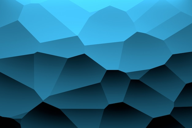 Padrão geométrico colorido com cor preta azul profundo