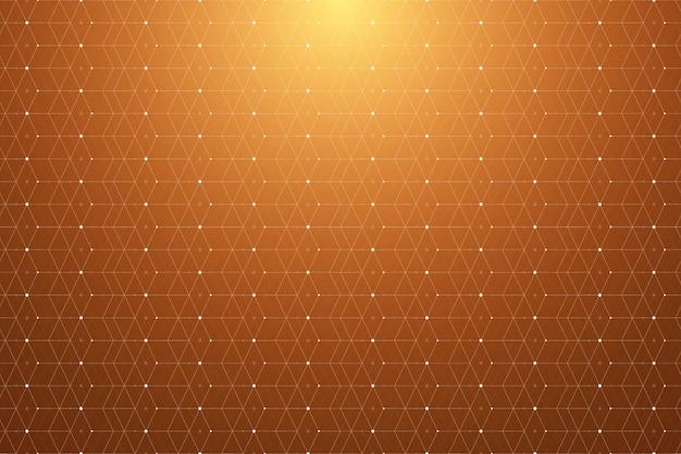 Padrão geométrico com linha e pontos conectados. conectividade gráfica de fundo. pano de fundo poligonal moderno e elegante para seu projeto, ilustração.