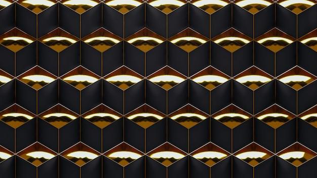 Padrão geométrico na superfície art deco