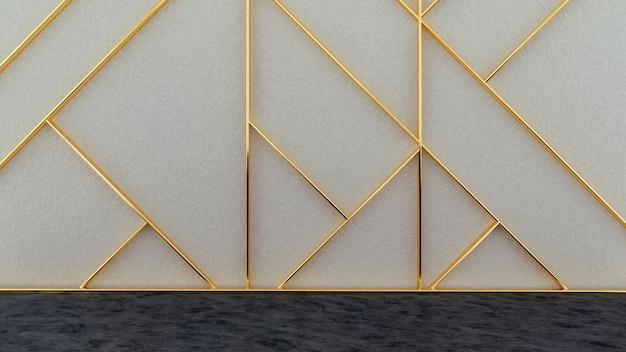 Padrão geométrico na superfície art deco Foto Premium