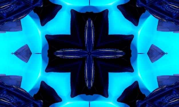 Padrão geométrico necromântico, arte da mandala. caleidoscópio para convocar espíritos em forma de hexágonos, triângulos e estrelas de quatro pontas. padrão de kaledoscope para scrapbooking, embrulho de presente