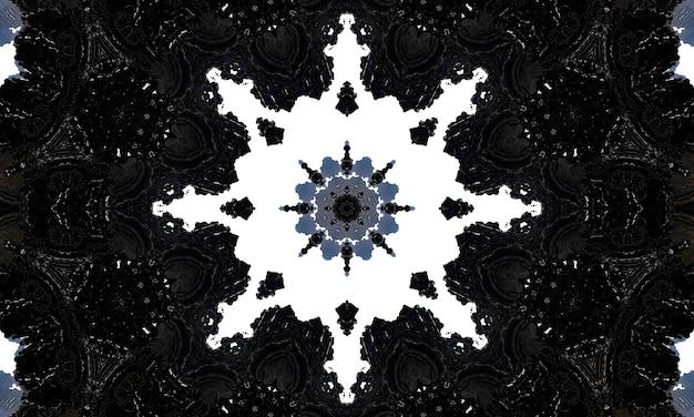 Padrão geométrico necromântico, arte da mandala. caleidoscópio para convocar espíritos em forma de hexágonos, triângulos e estrelas de seis pontas. padrão de kaledoscope para scrapbooking, embrulho de presente.