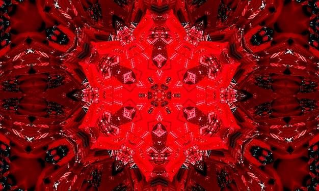 Padrão geométrico necromântico, arte da mandala. caleidoscópio para convocar espíritos em forma de hexágonos, triângulos e estrelas de sete pontas. padrão de kaledoscope para scrapbooking, embrulho de presente.