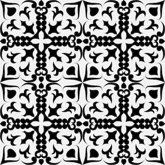 Padrão geométrico preto e branco sem costura em uma célula oblíqua com quadrados