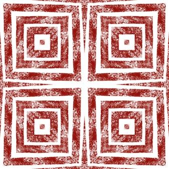 Padrão geométrico sem emenda. fundo de caleidoscópio simétrico de vinho tinto. impressão atraente pronta para têxteis, tecido para biquínis, papel de parede, embrulho. desenho geométrico de desenho sem costura.