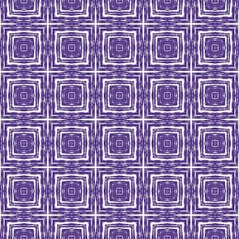 Padrão geométrico sem emenda. fundo roxo caleidoscópio simétrico. estampado apelativo pronto para têxteis, tecido para fatos de banho, papel de parede, embrulho. desenho geométrico de desenho sem costura.