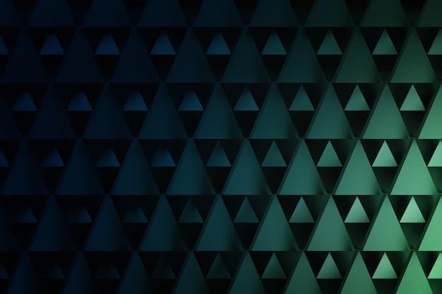 Padrão geométrico triângulo em azul escuro e verde. fundo com formas de repetição triangulares com espaço da cópia.