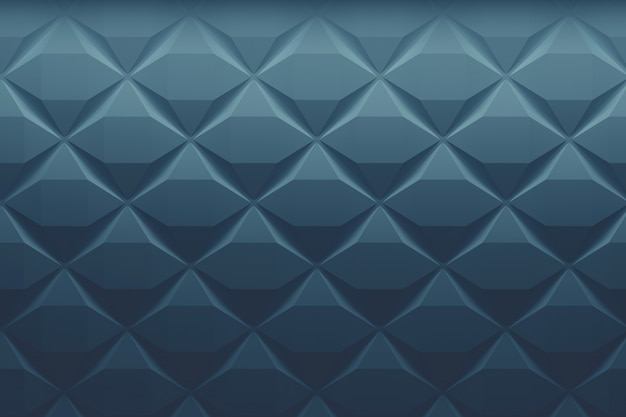 Padrão goemétrico de baixo poli clássico azul desbotado