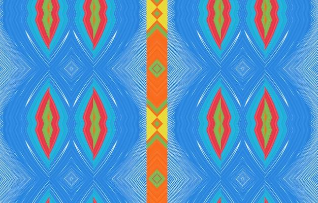 Padrão ikat sem costura fundo abstrato para envoltório de texturas de superfície de papel de parede de design têxtil