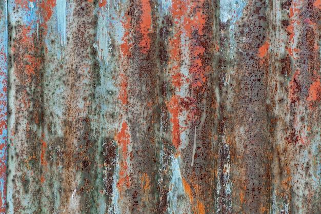 Padrão ondulado vertical em textura de folha de metal ondulada.