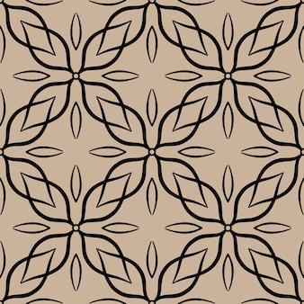 Padrão sem emenda abstrato com ornamento de renda ornamental de telha motivo de mosaico. textura para impressão, tecido, têxtil, papel de parede.