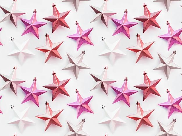 Padrão sem emenda. ano novo fundo com estrelas decorativas.