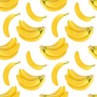 Padrão sem emenda com bananas isoladas, com traçado de recorte