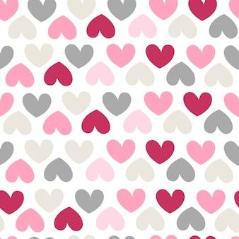 Padrão sem emenda com corações. ilustração vetorial para papel de embrulho e scrapbooking