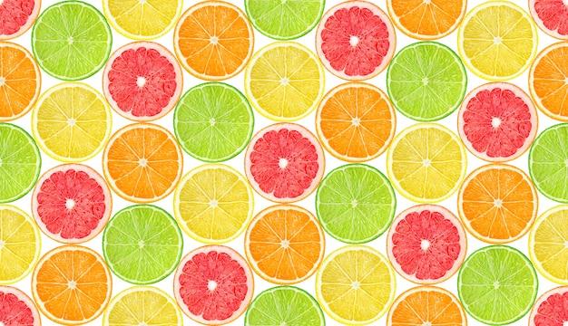 Padrão sem emenda com fatias de frutas cítricas
