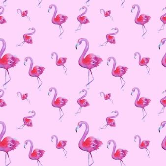 Padrão sem emenda com flamingos cor de rosa