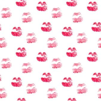 Padrão sem emenda com lábios de beijo