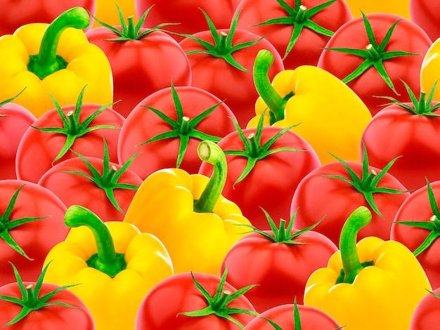 Padrão sem emenda com tomate e pimentão