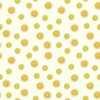 Padrão sem emenda com uma foto de limão e limão.