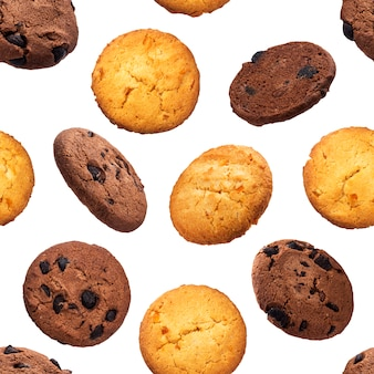 Padrão sem emenda de biscoitos de aveia chip