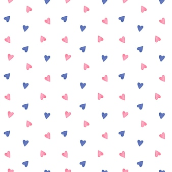 Padrão sem emenda de corações bonitos padrão minimalista de corações