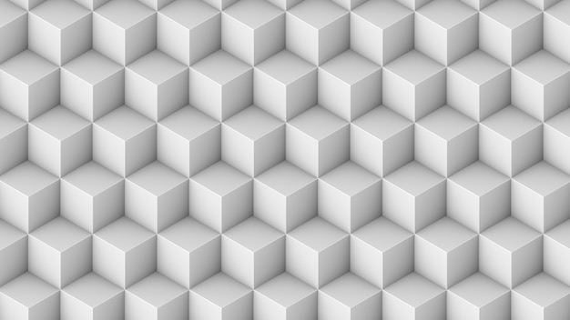 Padrão sem emenda de cubos isométricos. 3d render cubos de fundo