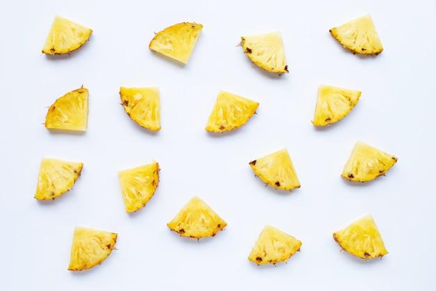 Padrão sem emenda de fatias de abacaxi