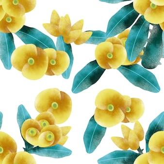 Padrão sem emenda de flor amarela