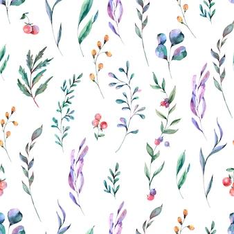 Padrão sem emenda de flores em aquarela verão