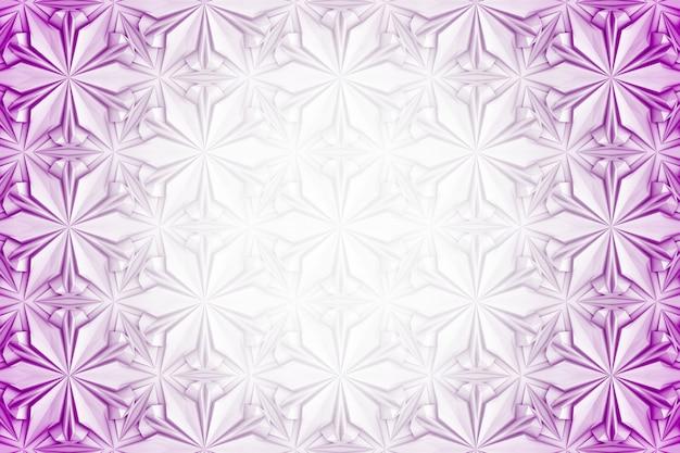 Padrão sem emenda de geometria de luz tridimensional com flores de seis pontas