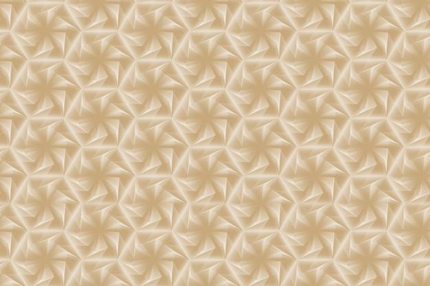 Padrão sem emenda de geometria tridimensional de luz com seis flores pontiagudas