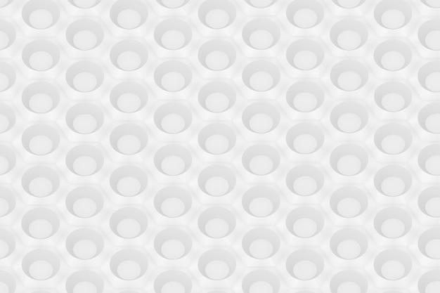 Padrão sem emenda de hexágonos e círculos com base na grade hexagonal