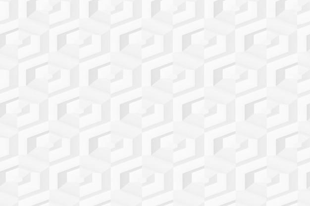 Padrão sem emenda de hexágonos em fundo de grade hexagonal