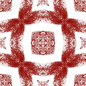 Padrão sem emenda de medalhão. fundo de caleidoscópio simétrico de vinho tinto. telha sem costura medalhão em aquarela. têxtil pronto para impressão digna de nota, tecido de biquíni, papel de parede, embrulho.